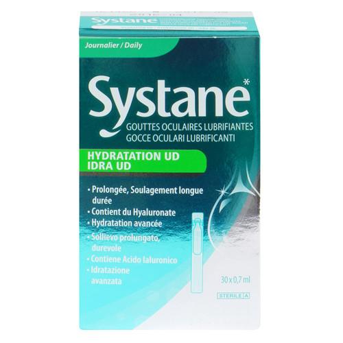 Systane Hydration UD - 30 unidoses - Gouttes Lubrifiantes et Hydrantes